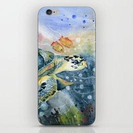 Colorful Seaturtle Art iPhone Skin
