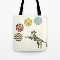 games Tote Bags featuring Ball Games by Cassia Beck