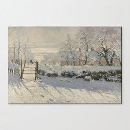 Claude Monet  -  The Magpie Canvas Print