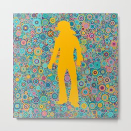 Psychedelic funky Seventies disco party Metal Print
