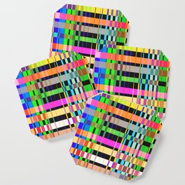 inclined coloured stripes Coaster