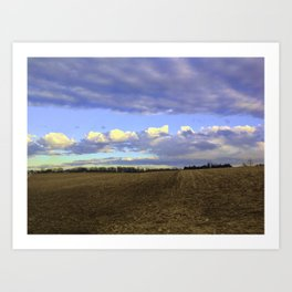 Farm Fields In Frederick Maryland In Winter Art Print