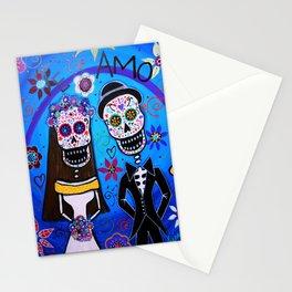 Dia de los Muertos Special Wedding Calavera Painting Stationery Cards