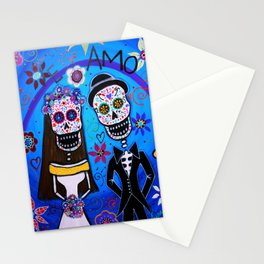 Dia de los Muertos Special Wedding Calavera Painting Stationery Cards
