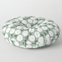 In the meadow | white and sage  Floor Pillow