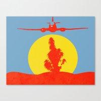 cannabis Canvas Prints featuring Cannabis Deco  by potshoppe