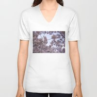 cherry blossoms V-neck T-shirts featuring Cherry Blossoms by Colesart