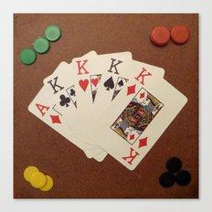 Poker de Reyes Canvas Print