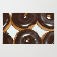 donut Area & Throw Rugs featuring Donut by Kelly Sweet