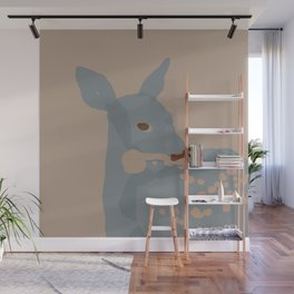 Grey Deer Wall Mural