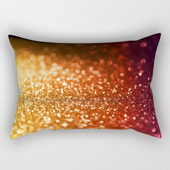 Fire and flames - Red and yellow glitter effect texture on #Society6 Rectangular Pillow