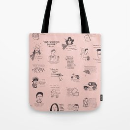 Gilmore Girls Quotes in Pink Tote Bag
