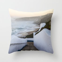 Stairs to the coast Throw Pillow
