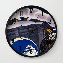 Vintage Engelberg Switzerland Travel Wall Clock