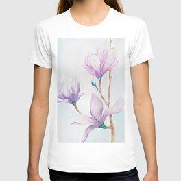 Beautiful lila magnolia T-shirt