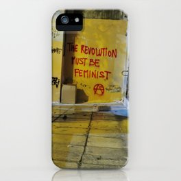 Feminist Anarchist Graffiti Exarchia Athens iPhone Case