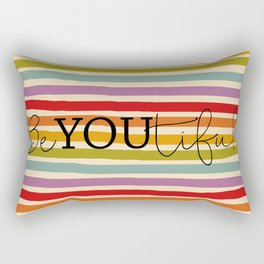 Hand Drawn Rainbow Rectangular Pillow
