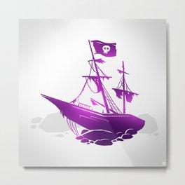 Pirate Ship Metal Print