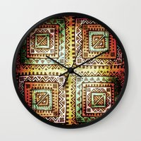 quilt Wall Clocks featuring Ancient Quilt by Robin Curtiss