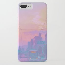 Anime sunset iPhone Case