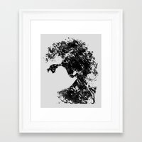 dylan Framed Art Prints featuring Dylan by Printer's Devil