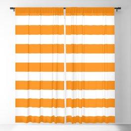 Sacral Orange and White Stripes Blackout Curtain