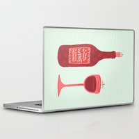 wine Laptop & iPad Skins featuring Wine by Cat Coquillette