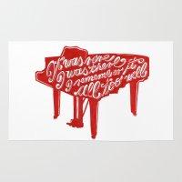 lyrics Area & Throw Rugs featuring Piano lyrics by saralucasi