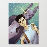 donnie darko Canvas Prints featuring Donnie Darko by Andy Isabel