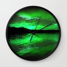 Glorious Green Wall Clock