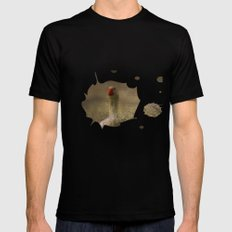 The christmas goose Black Mens Fitted Tee MEDIUM