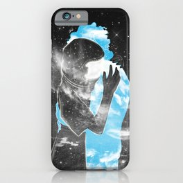Hugging the warm clouds. iPhone Case