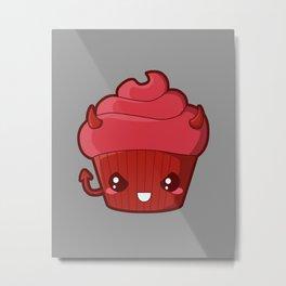 Spooky Cupcake - Devil Metal Print