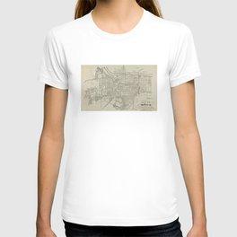 Vintage Map of Augusta GA (1913) T-shirt