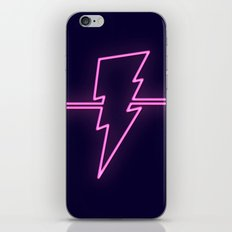 Rad Pink Neon Lightning iPhone Skin