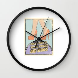 Fabulous Retro 50 Year Old Sizzles Sparkles Shines Wall Clock