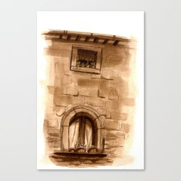 Viterbo Windows - 1 Canvas Print