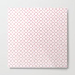 Large Millennial Pink Pastel Round Spots On White Metal Print