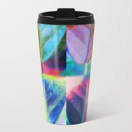 Abstract Leaf Colors Travel Mug