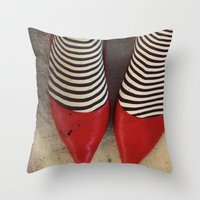 dorothy Throw Pillows featuring Dorothy by elle moss