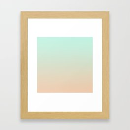 MELLOW TIMES - Minimal Plain Soft Mood Color Blend Prints Framed Art Print