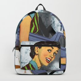 Housewife Goes Crazy Funny Tee Backpack