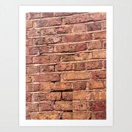 London Brick Wall Art Print