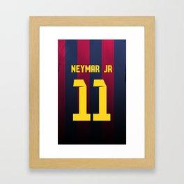 Neymar Jr. Jersey Framed Art Print