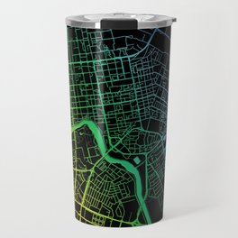 Astana, Kazakhstan, City, Map, Rainbow, Map, Art, Print Travel Mug