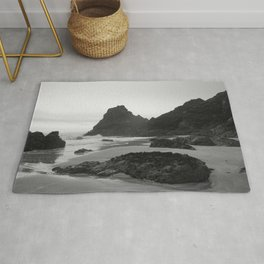 Mist Rolling in at Kynance Cove Rug