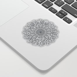 Mandala • Fuck it • grey Sticker