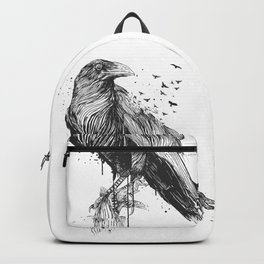 Born to be free (bw) Backpack