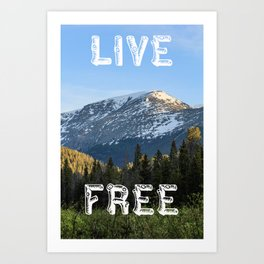 Carefree Mountain Living Art Print