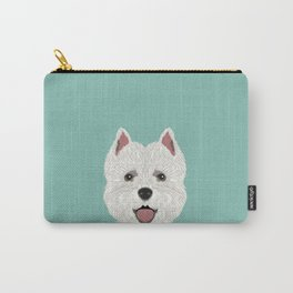 Jamie - Highland Terrier gift ideas for dog person and dog people gifts Carry-All Pouch